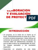 Elaboración y Evaluación de Proyectos