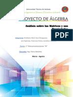 Algebra Informe Definitivo