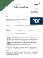 Formular Guthabenauszahlung - MEDIONmobile