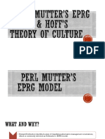 Perl Mutter's EPRG Model & Hoff's Theory (1)