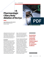 Enucleation--pharmacologic Ciliary Body Ablation of the Eye
