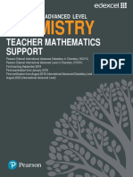 Chemistry Teacher Mathematics Support Guide