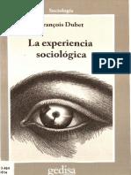 Dubet Francois La Experiencia Sociologica