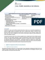 Informe Especial Febre Amarela no Brasil