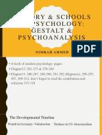 History & Schools of Psychology- Gestalt and Psychoanalysis