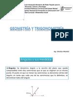 Unidad No 3. Geometria y Trigonometria