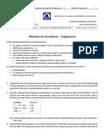Modelos de Inventario – Asignación