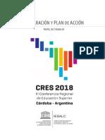 Declaracion-PlandeAccionCRES2018