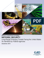 Long-Range Emerging Threats Facing the United States As Identified by Federal Agencies