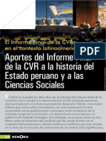 Aportes de la CVR a la historia del estado peruano