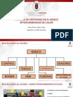 ANALISIS DE CRITICIDAD EN EL BANCO INTERCAMBIADOR DE CALOR