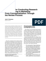 Guidelines for Conducting Research and Publishing in Marketing