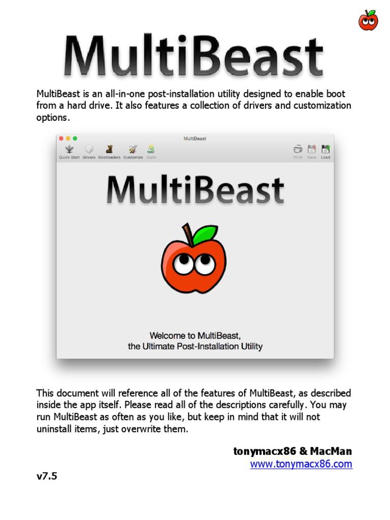 MultiBeast Features 7 5   Booting   Bios