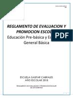 Reglamento de Evaluacion y Promocion Escolar