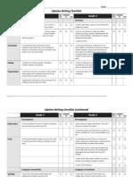 opinion writing checklist grade 3 and grade 4