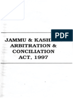 J K Arbtration and Concilation Act 1997