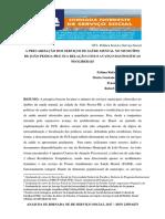A PRECARIZAÇÃO DOS SERVIÇOS DE SAÚDE MENTAL NO MUNICÍPIO DE JOÃO PESSOA-PB E SUA RELAÇÃO COM O AVANÇO DAS POLÍTICAS NEOLIBERAIS