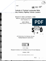 Task analysis of tactical leadership skills