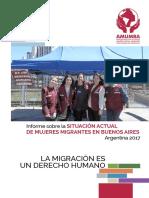 AMUMRA_Informe Sobre La Situación Actual de Mujeres Migrantes en Buenos Aires.