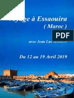 Voyage à Essaouira 2019 - 12 au 19 avril 2019