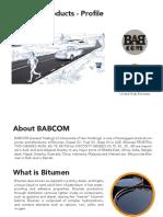 Bitumen Profile YEMHoldings