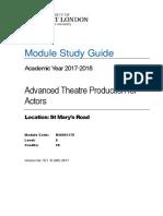 Academic Calendar Acting