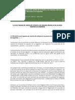 La Corte Suprema de Justicia de La Nación y Las Cláusulas Abusivas en Los Servicios Financieros en Argentina