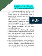 Aproximações entre o Serviço Social e a Interdisciplinaridade.docx