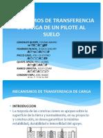 Mecanismos de Transferencia de Carga de Un Pilote - Grupo 8