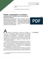 Entre o Passado e o Futuro_Contributos Para o Debate Sobre a Sociologia Do Direito Em Portugal