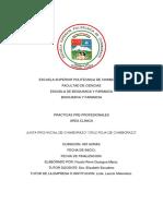 Informe de Practicas Pre Pofesionales Del Area Clinica