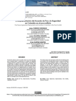 La implementación del Acuerdo de Paz y la Seguridad en Colombia en el Posconflicto - Jesús Caldera Ynfante, PhD. Revista Utopía y Praxis Latinoamericana