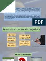 Introducción de Protocolos en Resonancia Magnética.