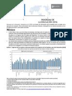 OCDE Panorama de La Educación 2016-Mexico