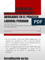 Acreditación de Las Partes, Apoderados y Abogados - Autor José María Pacori Cari
