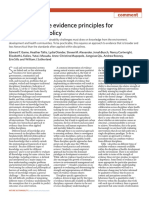 Cross-discipline Evidence Principles for Sustainability Policy