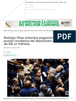 Rodrigo Maia antecipa pagamento de auxílio-mudança de deputados; despesa é de R$ 17 milhões - Sul 21