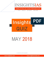 Insight quiz Month Of May '18