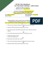 Sample QP- MID Exam - Minor