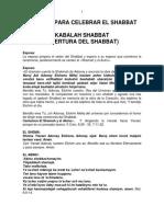 Ejemplo Para Hacer El Shabbat
