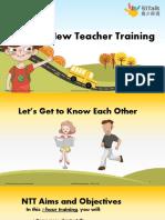 New Teacher Training (Guide for Teachers)