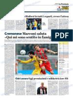 La Provincia Di Cremona 06-01-2019 - Serie B