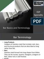 Bar Basics and Terminology