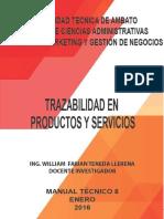 trazabilidad en productos y servicios