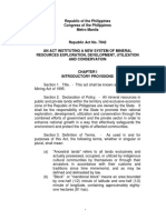 RA_7942_ Philippine Mining Act of 1995
