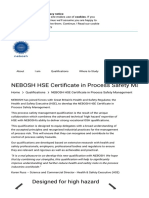 NEBOSH HSE Certificate in Process Safety Management - NEBOSH