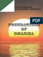 Foundations of Dharma Swami Paramananda Bharati_text