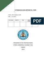 Laporan Pendahuluan Antenatal Care