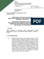 Surat Pekeliling KSU Bilangan 4 Tahun 2016 Arahan Melaksanakan Tugas Tugas Perolehan Kepada Pegawai Pegawai Di KKLW Opt