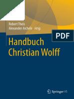 Robert Theis, Alexander Aichele (Eds.) - Handbuch Christian Wolff (2018, Vs Verlag Für Sozialwissenschaften)